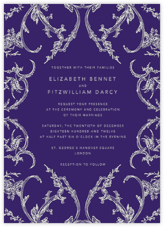 Silk Brocade II - Amethyst - Oscar de la Renta - Wedding invitations