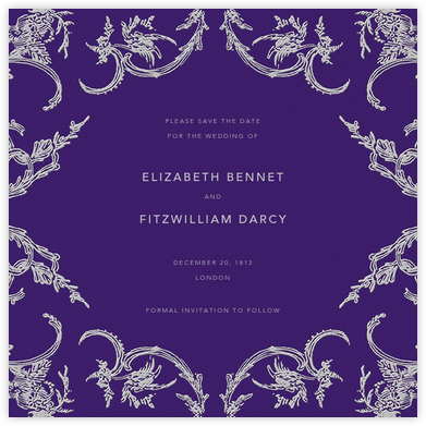 Silk Brocade II (Save The Date) - Amethyst - Oscar de la Renta - Save the dates