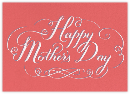 Happy Mothers Day Script - Pink - Paperless Post - Mother's Day Cards