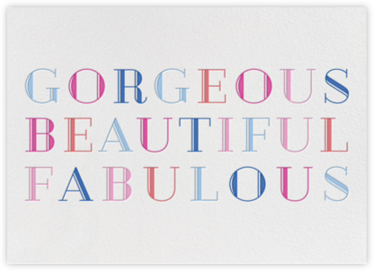 Beautiful and Fabulous  - Paperless Post -