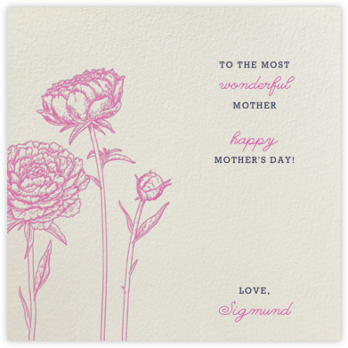 Peonies (Cream) - Paperless Post - Mother's day cards