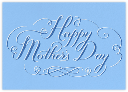 Happy Mothers Day Script - Blue - Paperless Post -