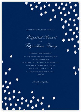 Ikat Dot - Dark Blue - Oscar de la Renta - Modern wedding invitations
