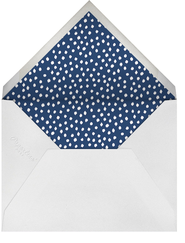 Ikat Dot (Save the Date) - Dark Blue - Oscar de la Renta - Party save the dates - envelope back