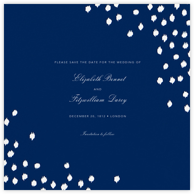 Ikat Dot (Save the Date) - Dark Blue - Oscar de la Renta - Before the invitation cards