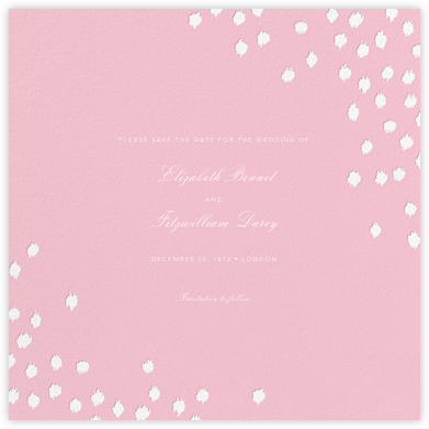 Ikat Dot (Save the Date) - Light Pink | null