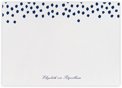 Ikat Dot (Stationery) - Dark Blue - Oscar de la Renta -