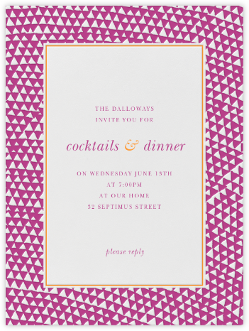 Armadillo - Fuschia and Tangelo - Paperless Post - Invitations