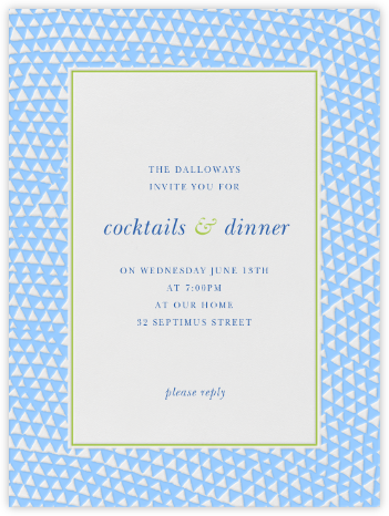 Armadillo - Light Blue and Charterhouse - Paperless Post - Reception invitations