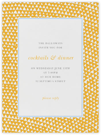 Armadillo - Mango and Light Blue - Paperless Post - Online Party Invitations