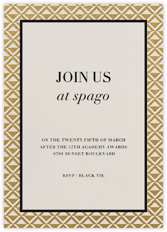 Waldorf - Gold Black - Paperless Post - Invitations