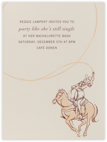 Cowgirl - Paperless Post - Bachelorette Party Invitations