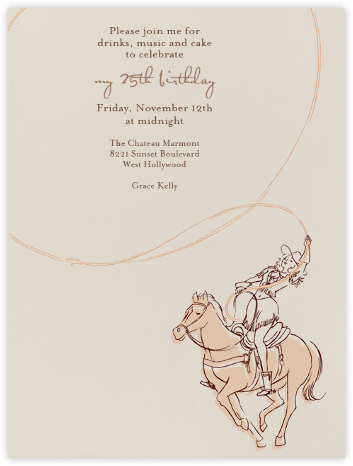 Cowgirl - Paperless Post -