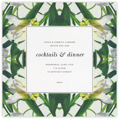 Parrot Tulip - Oscar de la Renta - Dinner party invitations