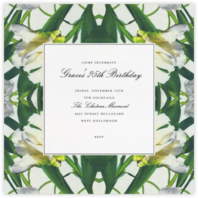 Parrot Tulip - Oscar de la Renta - Adult Birthday Invitations