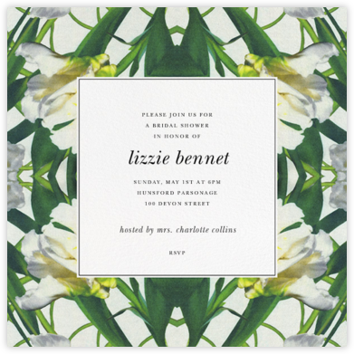 Parrot Tulip - Oscar de la Renta - Bridal shower invitations