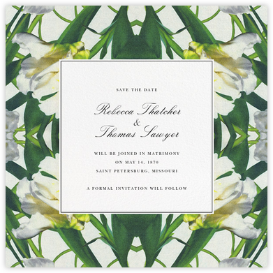 Parrot Tulip (Save the Date) - Oscar de la Renta - Before the invitation cards