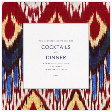Ikat - Oscar de la Renta - Dinner Party Invitations
