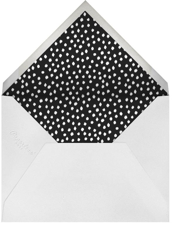 Scribble Print - Oscar de la Renta - Adult birthday - envelope back