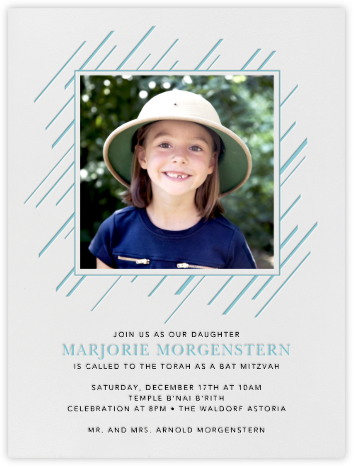 Chez Castel - Bondi - Paperless Post - Bar and Bat Mitzvah Invitations