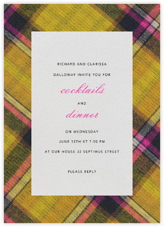 Technicolor Plaid - Oscar de la Renta -
