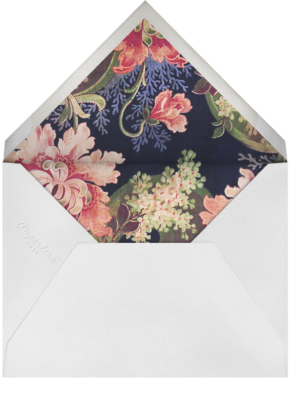 Ikat - Oscar de la Renta - Anniversary party - envelope back