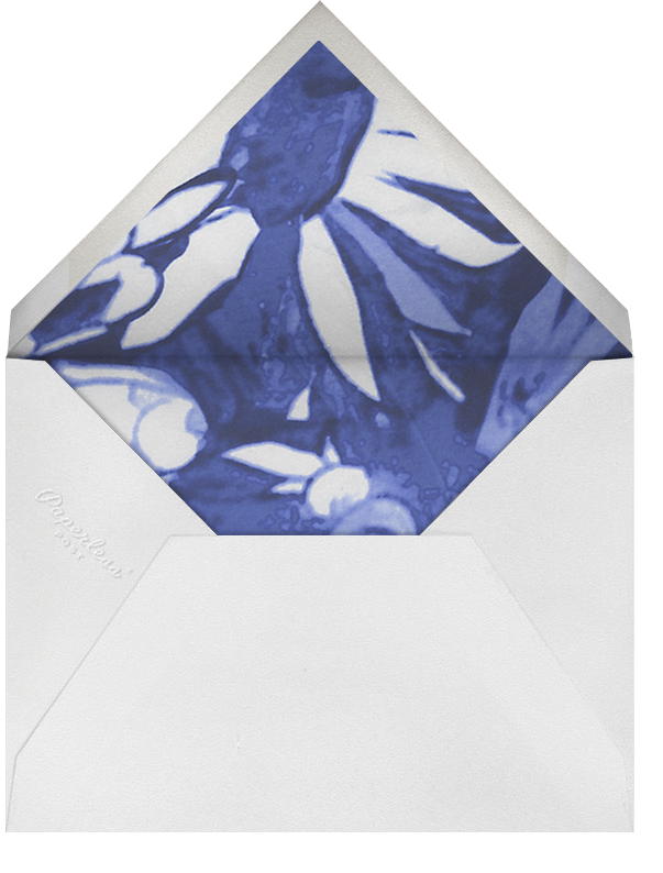 Watercolor Floral - Blue - Oscar de la Renta - Engagement party - envelope back