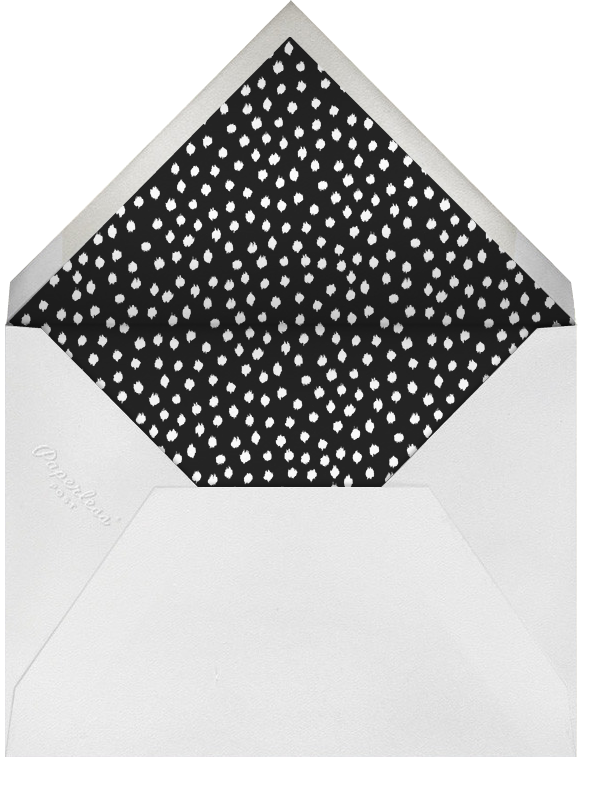Scribble Print - Oscar de la Renta - Anniversary party - envelope back