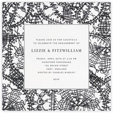 Scribble Print - Oscar de la Renta - Engagement party invitations