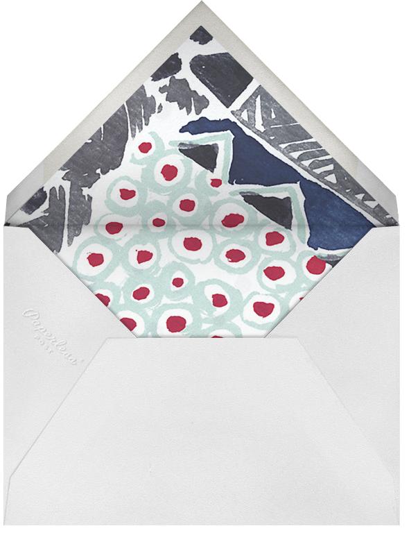 Silk a Pois  - Oscar de la Renta - Anniversary party - envelope back