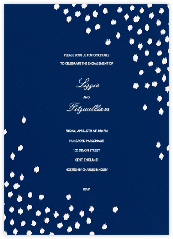 Ikat Dot - Dark Blue - Oscar de la Renta - Engagement party invitations