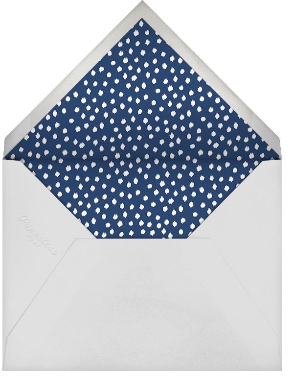 Ikat Dot - Dark Blue - Oscar de la Renta - Bar and bat mitzvah - envelope back