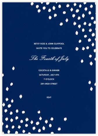 Ikat Dot - Dark Blue - Oscar de la Renta - 4th of July invitations