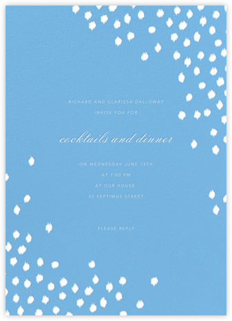 Ikat Dot - Light Blue - Oscar de la Renta - Pool Party Invitations