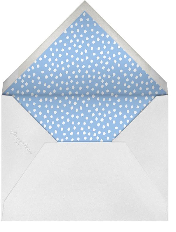 Ikat Dot - Light Blue - Oscar de la Renta - Hanukkah - envelope back