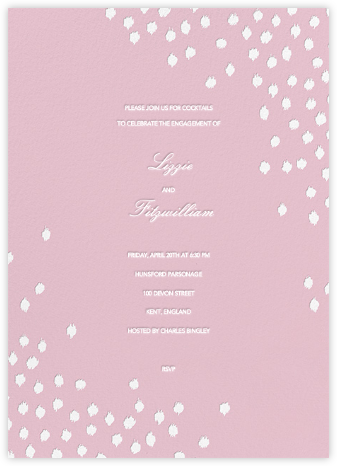 Ikat Dot - Pink - Oscar de la Renta - Engagement party invitations