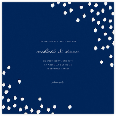 Ikat Dot (Square) - Dark Blue - Oscar de la Renta - General Entertaining Invitations