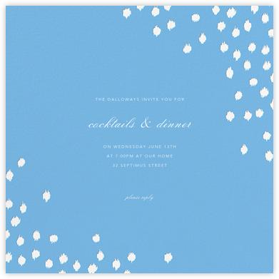 Ikat Dot (Square) - Light Blue - Oscar de la Renta -