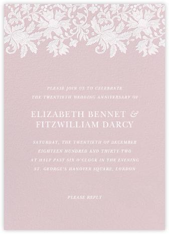Leaf Lace I - Pink - Oscar de la Renta - Oscar de la Renta invitations
