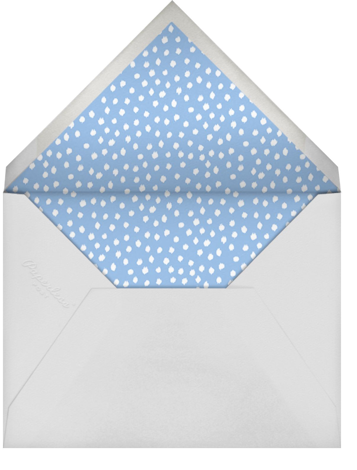 Ikat Dot (Square) - Light Blue - Oscar de la Renta - Baby shower - envelope back