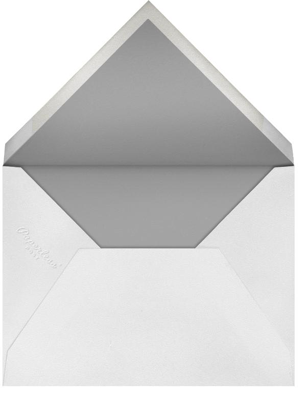 Leaf Lace I (Tall) - Gray - Oscar de la Renta - Wedding - envelope back