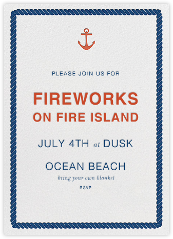 Anchors Aweigh - Jonathan Adler - Summer Party Invitations
