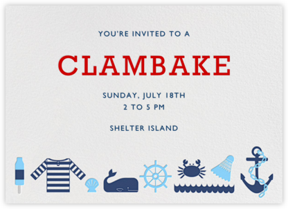 Day at the Marina - Jonathan Adler - Summer Party Invitations