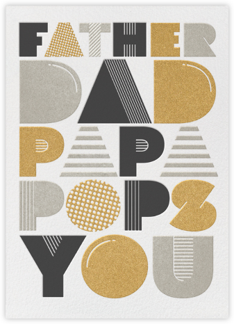 Father Dad Papa Pops You - Paperless Post - Father's Day cards