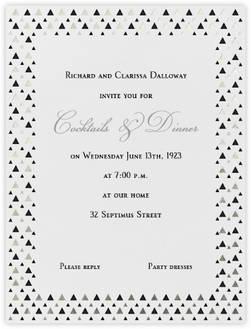 Triangles - Black - Paperless Post - Invitations