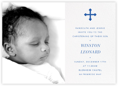 Photo Spread - White - Paperless Post - Christening Invitations