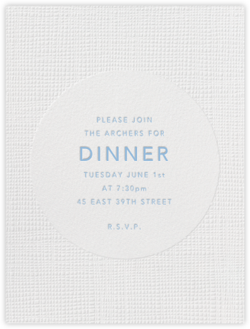 Linen - Tall - Paperless Post - Dinner Party Invitations