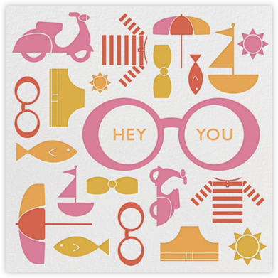 Hey Beach Bum - Jonathan Adler - Summer Entertaining Invitations