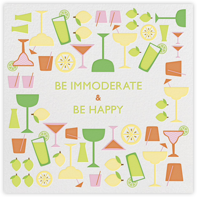 Margarita Mixer - Jonathan Adler - Happy hour invitations