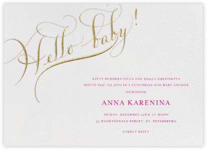Hello Baby - Bernard Maisner - Celebration invitations